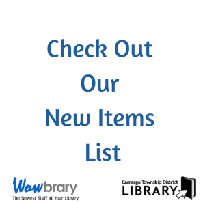 Check Out Our New Items List