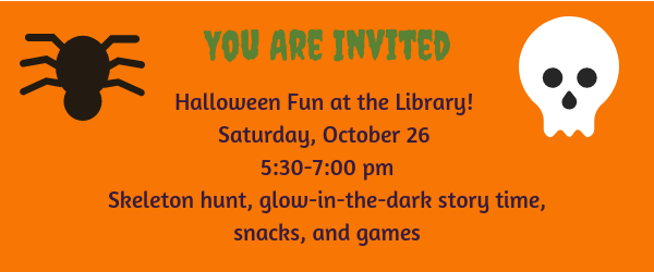 Halloween fun at the library!