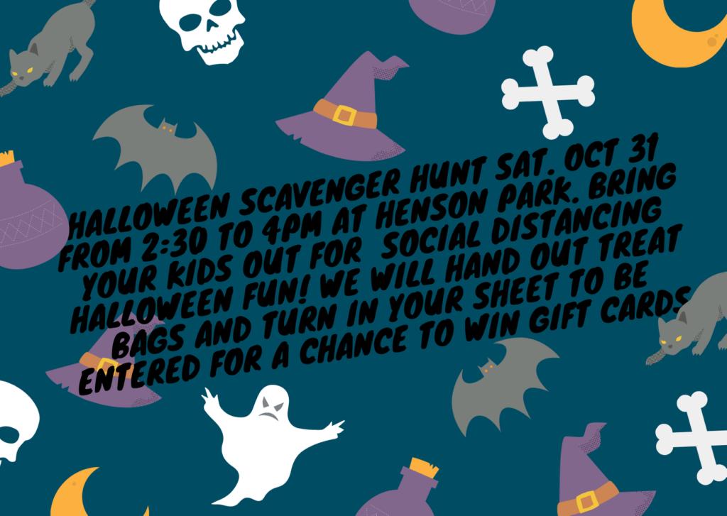 Halloween Scavenger Hunt at Henson Park